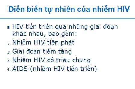 diễn tiến tự nhiên sau khi nhiễm hiv