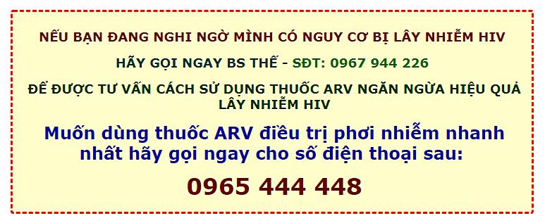 Tư vấn và mua thuốc điều trị phơi nhiễm HIV